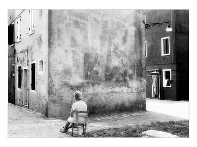 Toscana Digital Art - Nice View - Black And White - Burano - Italy by Marco Hietberg