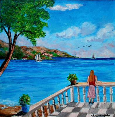 Lefkada Painting - Nice View by Konstantinos Charalampopoulos