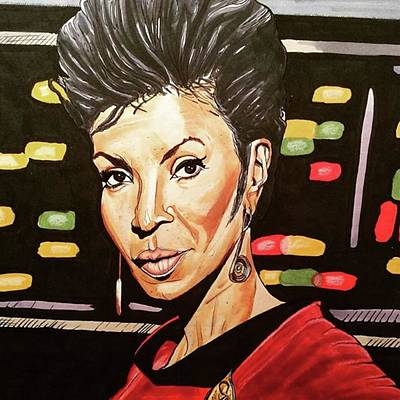 Drawing - Uhura  by Russell Boyle