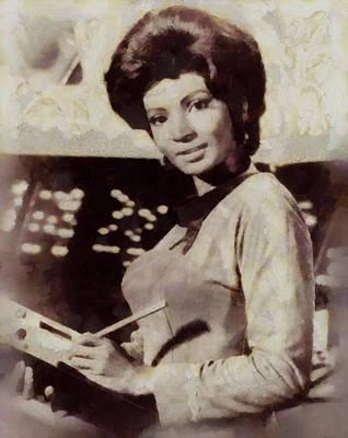 Nichelle Nichols, Lt. Ururu, Star Trek Vintage Art Print
