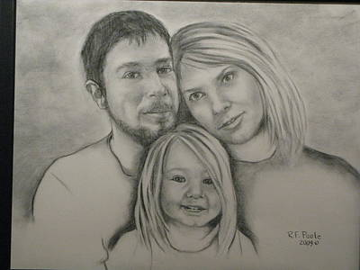 Drawing - Nichols Family Portrait by Rebecca Poole