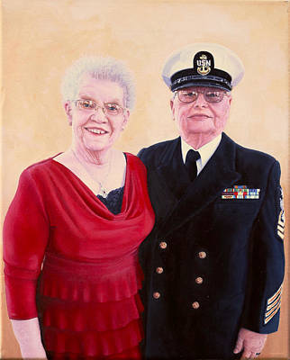 Art Print featuring the painting Nichols Portrait by Mike Ivey
