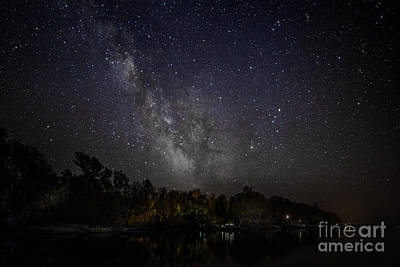Photograph - Nicholson's Point Under The Milky Way by Roger Monahan