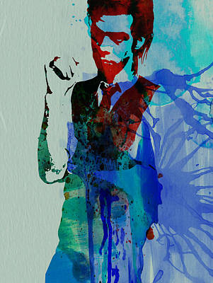 Caves Painting - Nick Cave by Naxart Studio