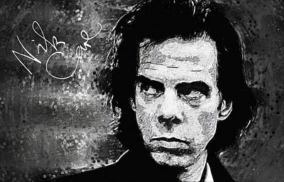 Digital Art - Nick Cave by Taylan Apukovska