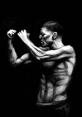 Jiujitsu Digital Art - Nick Diaz Fighter Portrait by Dave Dixon