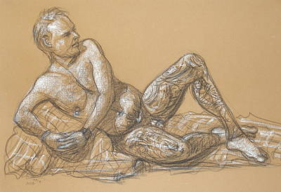 Drawing - Nick Reclining by Donelli  DiMaria