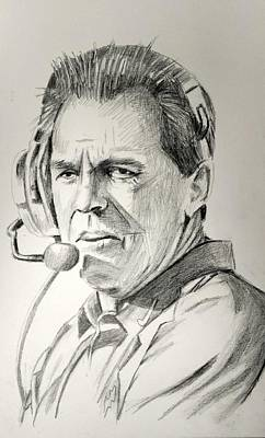 Nick Saban 121615 Art Print