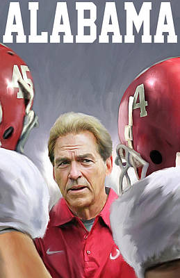 Nick Saban Art Print by Mark Spears