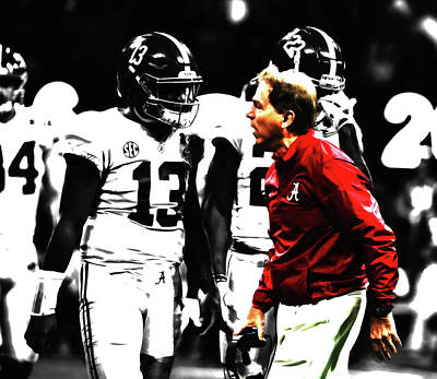 Clemson Mixed Media - Nick Saban Winning Tradition by Brian Reaves