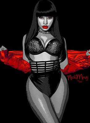 Nicki Minah Vampire Red By Gbs Print by Anibal Diaz