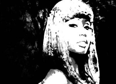 Big Pun Mixed Media - Nicki Minaj 4d by Brian Reaves