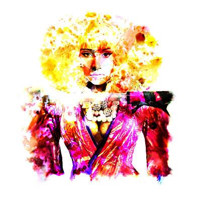 Big Pun Digital Art - Nicki Minaj 5j by Brian Reaves