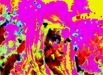 Big Pun Painting - Nicki Minaj Color Splash by Brian Reaves
