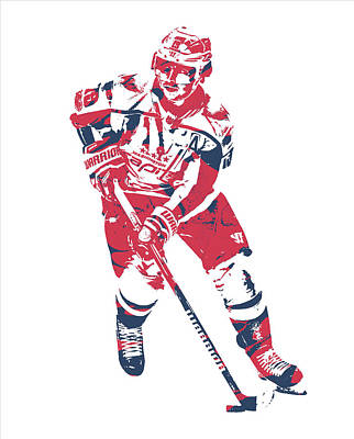 Mixed Media - Nicklas Backstrom Washington Capitals Pixel Art 10 by Joe Hamilton