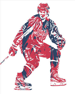 Mixed Media - Nicklas Backstrom Washington Capitals Pixel Art 11 by Joe Hamilton