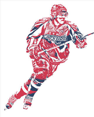 Mixed Media - Nicklas Backstrom Washington Capitals Pixel Art 12 by Joe Hamilton