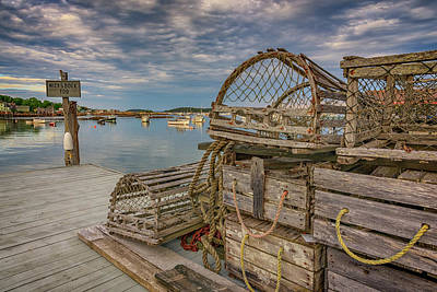 New England Village Photograph - Nick's Dock Too by Rick Berk