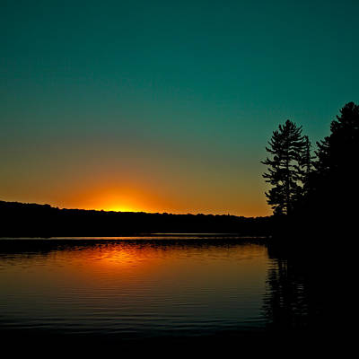 Photograph - Nicks Lake Sunset by David Patterson