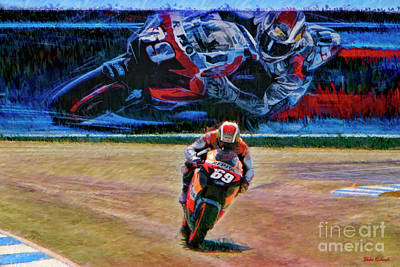 Photograph - Nicky Hayden 2006 Championship Winning Honda by Blake Richards