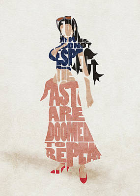 Digital Art - Nico Robin Typography Art by Inspirowl Design