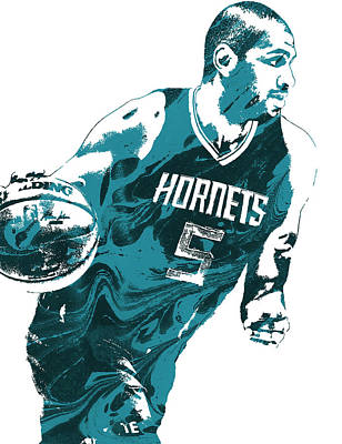 Free Mixed Media - Nicolas Batum Charlotte Hornets Pixel Art 3 by Joe Hamilton