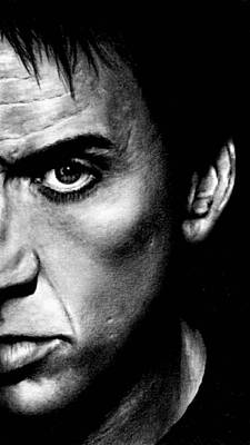 Drawing - Nicolas Cage by Rick Fortson