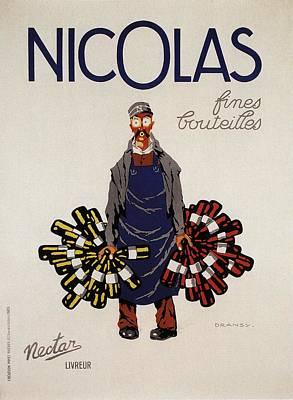 Mixed Media - Nicolas Fines Bouteilles - Beverages - Vintage Advertising Poster by Studio Grafiikka