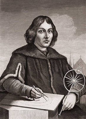 Person Drawing - Nicolaus Copernicus by American School