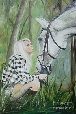 Forelock Painting - Nicole And Cellie by Isabella F Abbie Shores FRSA