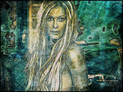 Digital Art - Nicole Eggert - Sexy Siren by Absinthe Art By Michelle LeAnn Scott