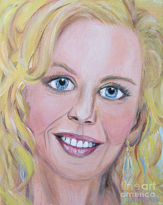 Painting - Nicole Kidman. Acrylic Painting. Portrait Of  Actress by Oksana Semenchenko