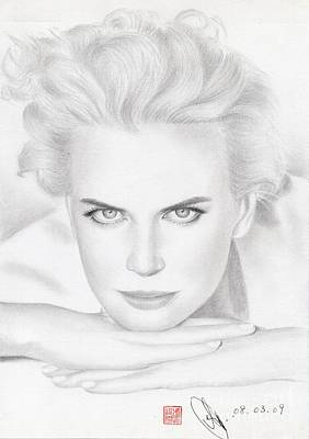 Art Print featuring the drawing Nicole Kidman by Eliza Lo
