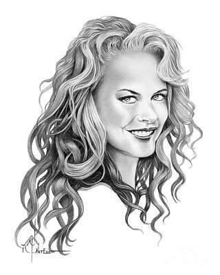 Drawing - Nicole Kidman by Murphy Elliott