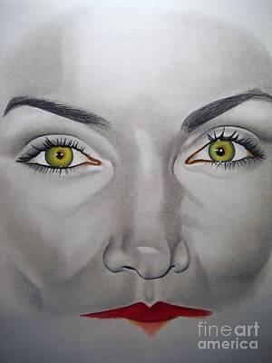 Murphy Mixed Media - Nicole's Eyes by Sonya Walker