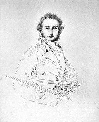 Violin Photograph - Nicolo Paganini (1782-1840) by Granger