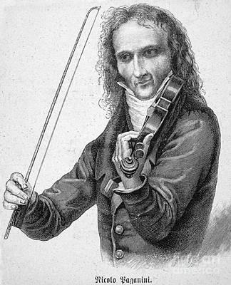 Violin Photograph - Nicolo Paganini by Granger