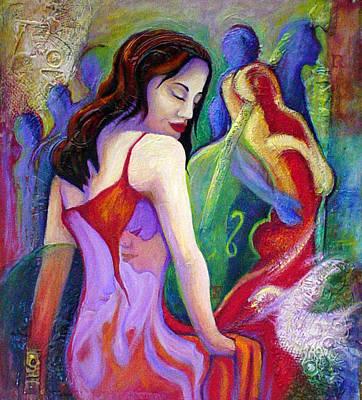 Nidia Art Print by Claudia Fuenzalida Johns