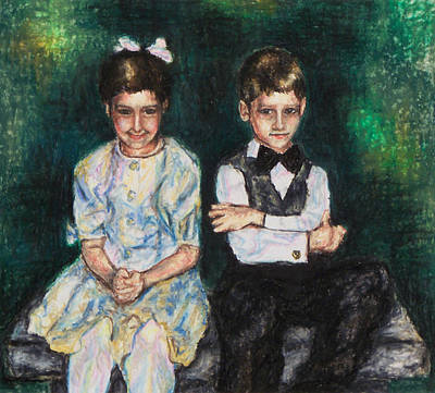 Painting - Niece And Nephew At The Wedding by Laurie Tietjen
