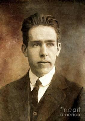 Niels Bohr, Physicist By Mary Bassett Art Print