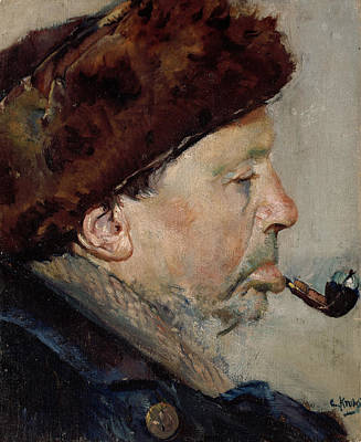 Painting - Niels Gaihede by Christian Krohg