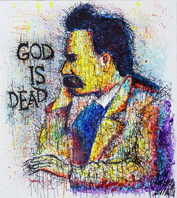 Figurativ Painting - Nietzsche Painting God Is Dead by Gian Maria De Nittis