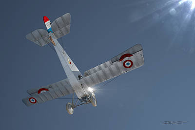 Digital Art - Nieuport 17 In The Blue Sky by David Collins