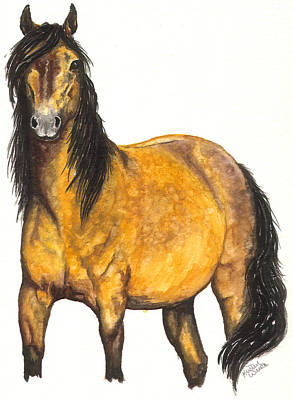 Quarter Horse Painting - Nifty by Kristen Wesch