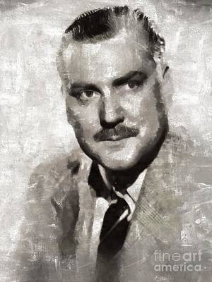 Bruce Art Painting - Nigel Bruce, Vintage Actor by Mary Bassett