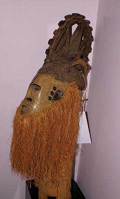 Sculpture - Nigerian Maiden Mask by Everett Spruill