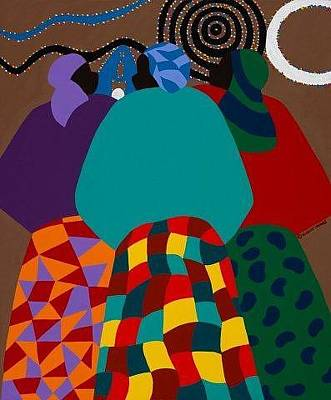 Painting - Nigerian Women by Synthia SAINT JAMES
