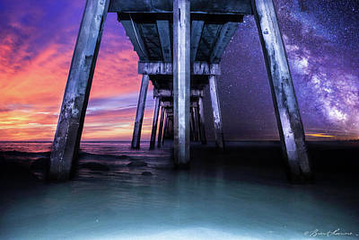 Night And Day Difference- Pensacola Beach Art Print by Brent Shavnore
