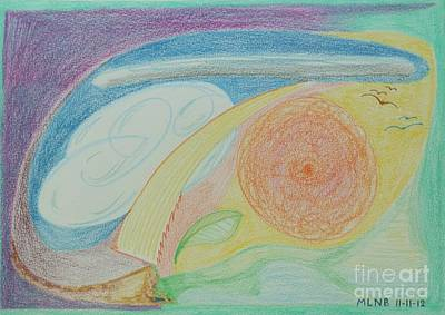 Drawing - Night And Day by Margaret Brooks