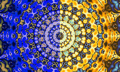 Solar Digital Art - Night And Day Mosaic Mandala by Ruth Moratz